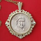 US 2007 Presidential One Dollar BU Unc Coin GP Necklace NEW Thomas Jefferson