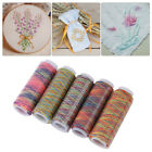 5pcs lot Gradient MulticolorSewing Quilting EmbroideryThread Spools DIY Craft