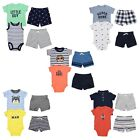 Carters 4 Piece Set for Baby Boys Bodysuit T Shirt 2 Shorts