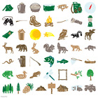 CRICUT CAMPOUT CARTRIDGE LK REAL WOODLAND ANIMALS USED  LINKED