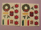 Creative Memories Lot of Two Block Stickers Christmas Wreath Candles ++++