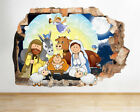 J569 Nativity Scene Christmas Kids Smashed Wall Decal 3D Art Stickers Vinyl Room