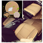 Beige PU Leather Luxury Car Auto Seat Cover Full Surround Breathable Cushion Mat