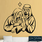 Wall Stickers Christmas Xmas Crib Nativity Jesus Mary Joseph Art Decal Vinyl