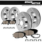 FRONT & REAR DRILLED SLOTTED BRAKE ROTORS AND CERAMIC PADS 2006 BMW 330i E90 RWD