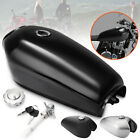 Universal Motorcycle 9L 2.4 Gallon Fuel Gas Tank For Honda CG125 Cafe Racer US