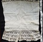 A12 Antique Edwardian Lace Fabric Salvage Sewing Costumes French Doll Clothes #3
