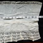 A12 Antique Embroidered Lace Fabric Salvage Sewing Costumes Doll Clothes #5