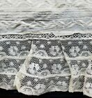 A12 Antique Lace Fabric Embroidered Salvage Sewing Costumes Doll Clothes #4