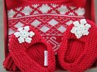 Pottery Barn Kids Red Aspen Baby Hat  Booties NIB Fair Isle 0 6 months LAST ONE