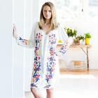 104441 New 169 Ollie  Max Morocco Floral Embroidered Ivory Dress Medium M US