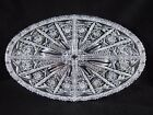 EAPG Oval Relish Tray 4 Part Divided Honeycomb Star of David and Cross Hatching