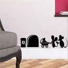 mouse family hole wall stickers room decoration vinyl home decal lovely animal