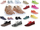 New Womens Sequin Glitter Lace Up Fashion Shoes Comfort Athletic Sneakers