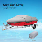 Waterproof Grey Heavy Duty Boat Speedboat Extra Cover 14ft 15ft 16ft 210D USA
