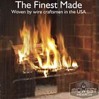 Midwest Hearth Fireplace Screen Mesh Curtain 2 Panels Each 24 Wide Include