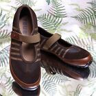 TSUBO BROWN LEATHER MARY JANES SNEAKERS LOAFERS WALKING WORK SHOES WOMENS SZ 8