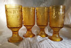 Vintage Brockway Glass Co. American Concord Amber Water Goblets (Circa 1977-78)