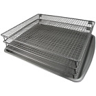 Weston Nonstick 3-Tier Drying Rack and Baking Pan (07-0155-W), 700 Square Inches