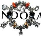 Authentic PANDORA Silver Charm Bracelet with Charms HALLOWEEN NIGHT EE41