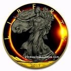 American Eagle Solar Eclipse 1oz silver coin 24K Gold and Ruthenium plated