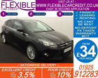 2014 FORD FOCUS 16 TDCI ZETEC GOOD BAD CREDIT CAR FINANCE FROM 34 P WK