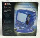 Pacific Technology 5 Black White Television TV with AM FM Radio Used 210013