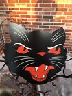Vintage Style Beistle Angry Scowly Cat Red Eyes Halloween Diecut Decoration 6