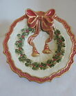 FITZ & FLOYD  Round Christmas Wreath  Bowl  Noel Collection  7.5