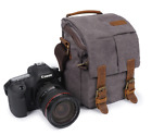 Vintage Canvas DSLR Camera Bag Messenger Shoulder Bag For Canon Nikon Sony SLR