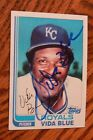Vida Blue 1982 Topps Traded Signed Autographed Card # 8T Kansas City Royals!