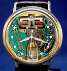 Bulova Accutron 214 custom Spaceview 10k GF vintage watch with new leather strap