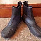 UGG UGG Mens Leather Rain Boots in Black