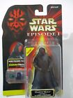 STAR WARS Episode 1 Darth Maul Tatooine w Cloak  Lightsaber Hasbro 1998 MOC