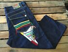 VTG COOGI Mens Rainbow Stripe Colorful Jeans Sneakers Shoes Size 42x26 BAGGY
