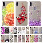 For Apple iPhone X Cute Soft Rubber TPU Clear Shockproof Case Slim Phone Cover