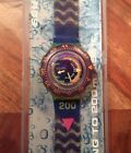 1991 Scuba 200 Swatch Watch Coming Tide SDJ100 With Case