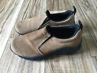 RED STONE Womens Mule Clog SLIP ON SHOES SZ 7 Brown Suede Ankle Boot