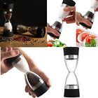 USTOCK 2 in 1 Manual Dual Pepper Shaker Salt Spice Mill Grinder Hourglass Design