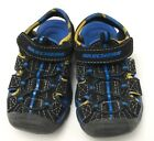 Skechers Sandals Hook Loop Strap Black Blue Yellow Toddler Boys Size 7