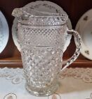 Wexford 64oz Pitcher. Large Anchor Hocking Heavy n Durable Cut Crystal look.