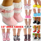 US Leather Boots Doll Shoes Fits 43Cm Zapf Baby Born Doll and Other 18 Inch Doll