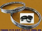 YAMAHA IT175 D/E/F 1977-1979 FRONT & REAR STEEL WHEEL RIM SET+TAPE RUBBER