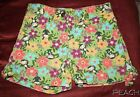 GYMBOREE JUNGLE GEM MONKEY FLOWER GREEN SHORTS 5 SUMMER SUPER CUTE