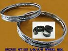 SUZUKI GT125 L/M/A/B   FRONT&REAR STEEL WHEEL RIM SET+TAPE RUBBER#BI822#