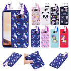Cute Unicorn Soft Rubber Protective Case Cover For Samsung Galaxy S9+ Note 8 S8