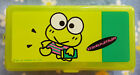 Vintage Sanrio 88 92 Keroppi Plastic Storage Case Lite Green Special Value