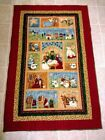 hand quilted wall hanging of nativity