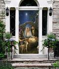 Nativity Scene Door Cover Christmas Entry Door Murals Outdoor Holiday Decor 119