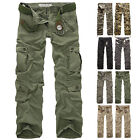 USA Mens Casual Military Army Cargo Camo Tactical Combat Work Pants Trousers